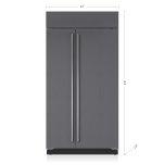 Sub ZeroSub Zero 42&quot Classic Side-by-Side Refrigerator/Freezer with Internal Dispenser - Panel Ready