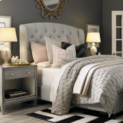 Queen Custom Uph Beds Paris Arched Winged Bed
