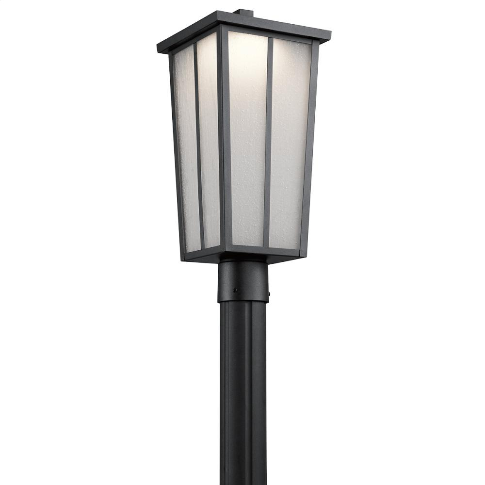 Amber Valley Collection Amber Valley LED Post Lantern in BKT