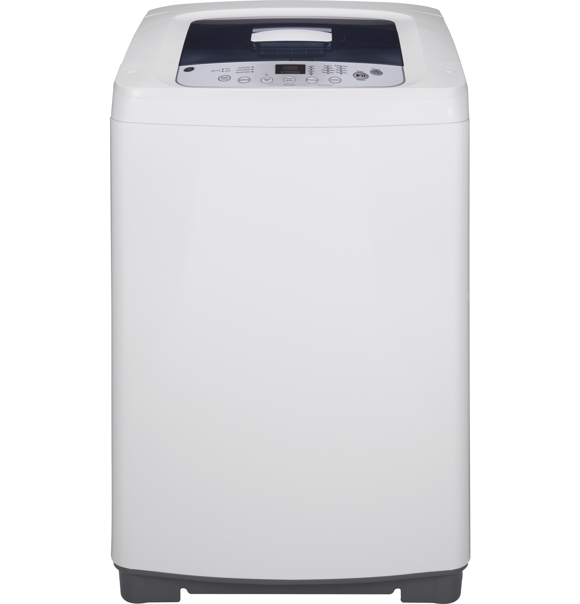 GE Space-Saving 2.6 DOE Cu. Ft. Capacity Portable Washer with Stainless Steel Basket
