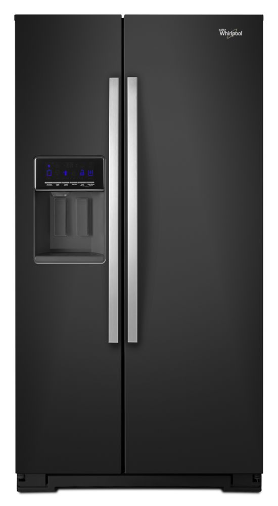 36-inch Wide Side-by-Side Refrigerator with Temperature Control - 26 cu. ft.  Black Ice