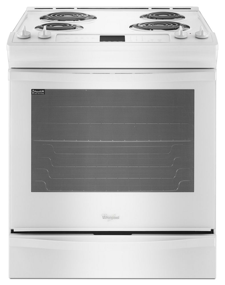 6.2 cu. ft. Front-Control Electric Range with AccuBake(R) System  White