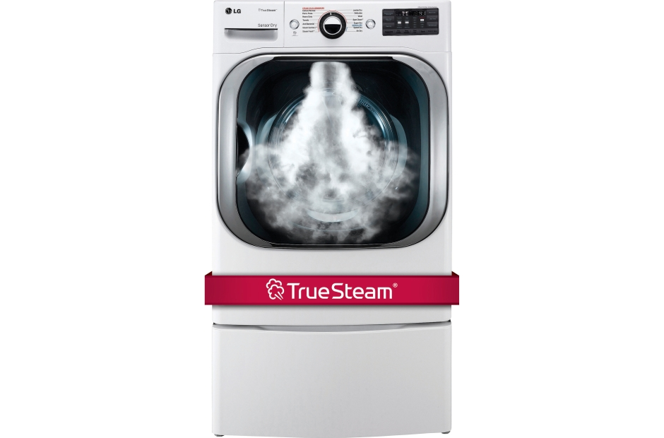 9.0 cu. ft. Mega Capacity Electric Dryer w/ Steam Technology  White