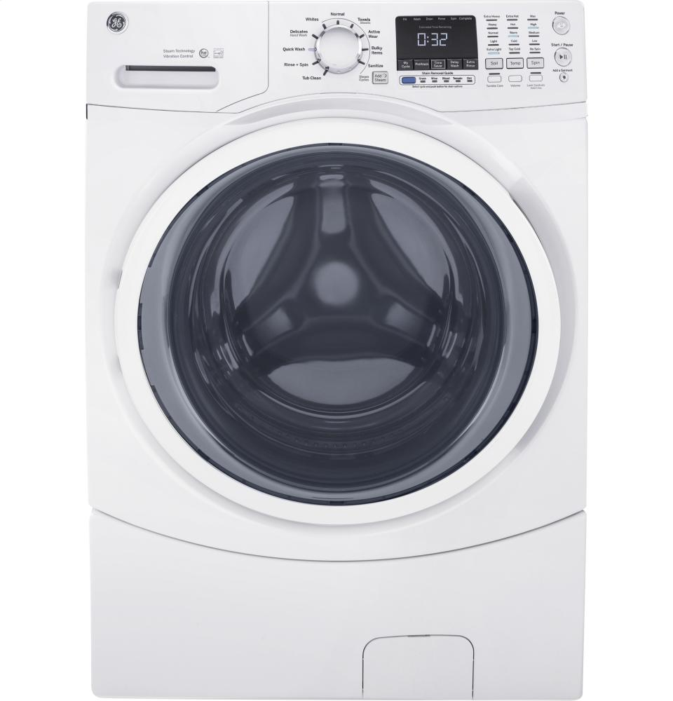 Energy Star 5.2 cu.ft. capacity stainless steel drum frontload washer  White