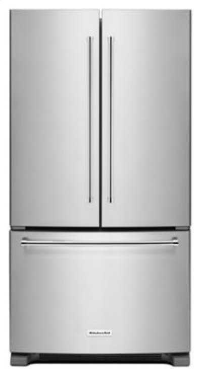 20 cu. ft. 36-Inch Width Counter-Depth French Door Refrigerator with Interior Dispense - Stainless Steel Product Image