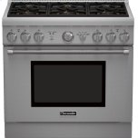 Thermador36 inch Professional Series Pro Harmony Standard Depth All Gas Range PRG366GH