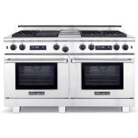 "American Range 60"" Medallion Range 11"" Gas Grill And 11"" Gas Griddle (2) Innovection Oven With Infrared Broiler In Each Oven Natural Gas"
