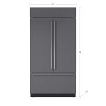 Sub ZeroSub Zero 42&quot Classic French Door Refrigerator/Freezer with Internal Dispenser - Panel Ready