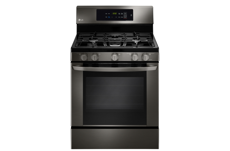 LG Black Stainless Steel Series 5.4 cu. ft. Single Oven Gas Range with EasyClean(R)