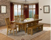CLEARANCE Trestle Table with 6 Side Chairs Product Image