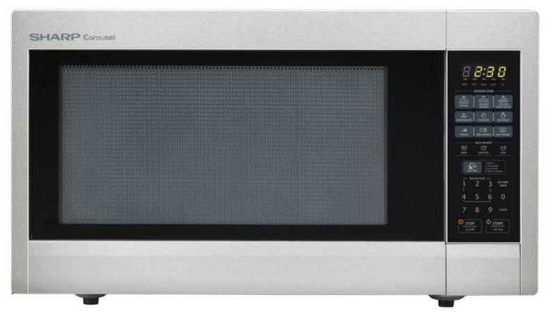 Countertop Microwave No Turntable : Sharp Carousel Countertop Microwave Oven 2.2 cu. ft. 1200W Stainless ...