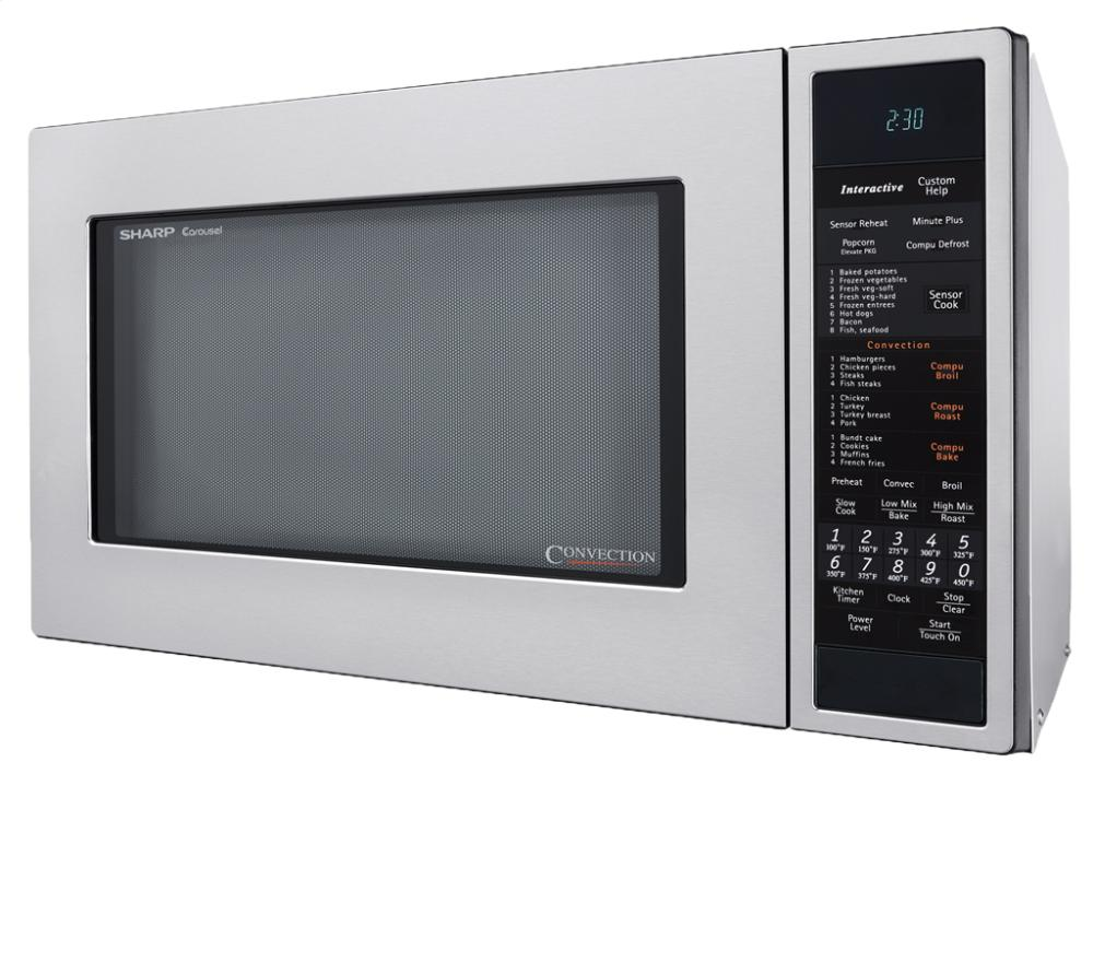 Countertop Microwave And Convection Oven In One : Sharp Carousel Countertop Convection + Microwave Oven 1.5 Cu. Ft. 900w ...