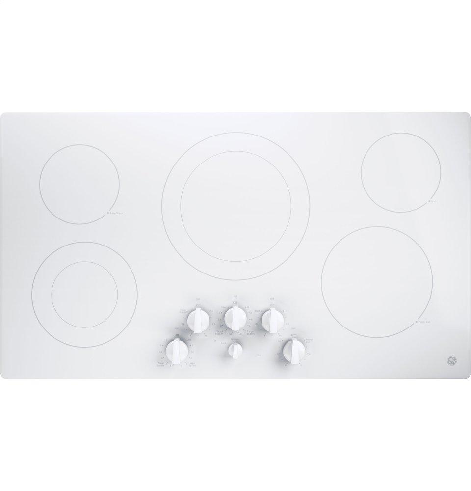 "GE(R) 36"" Built-In Knob Control Electric Cooktop