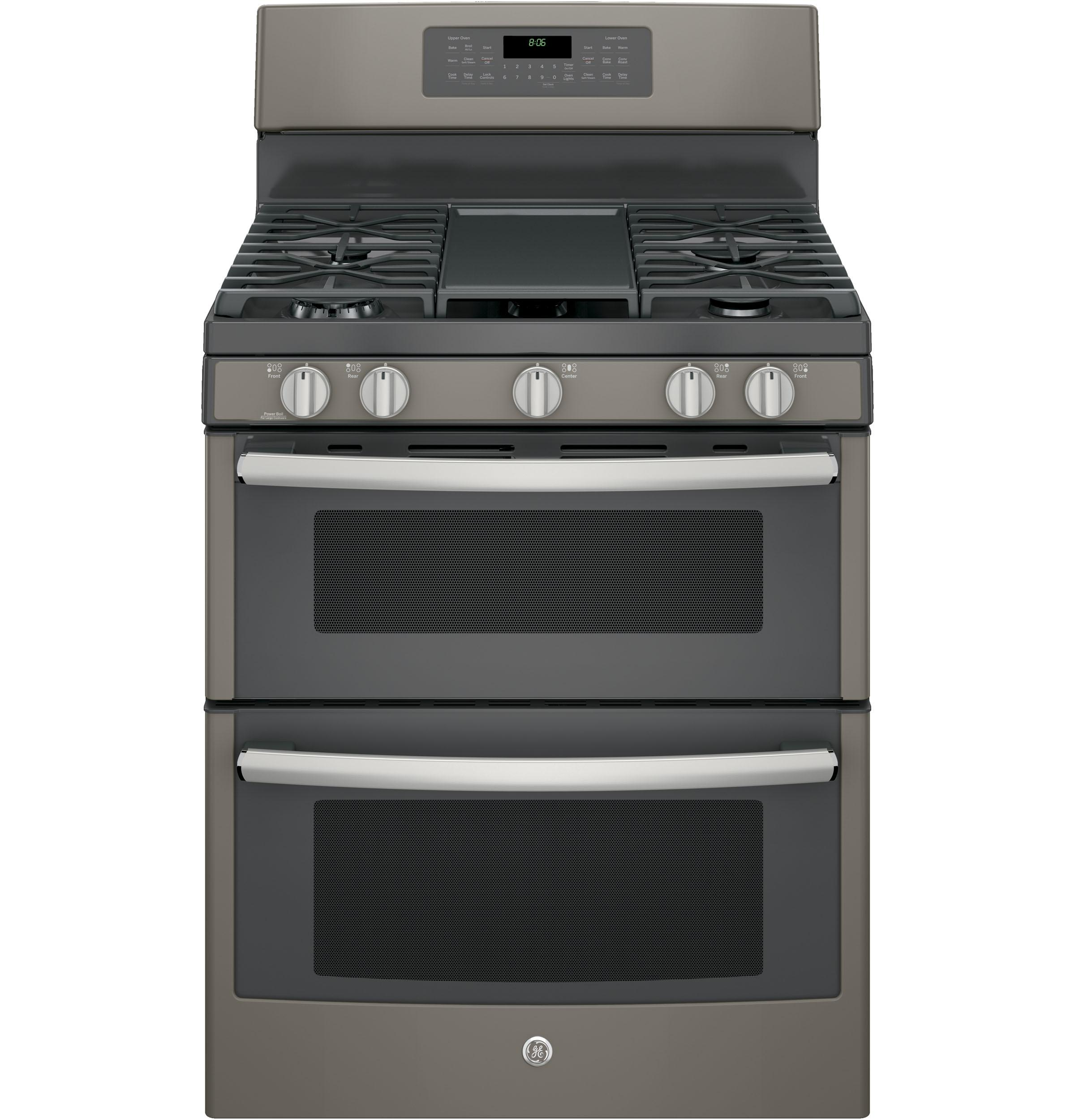 "GE(R) 30"" Free-Standing Gas Double Oven Convection Range