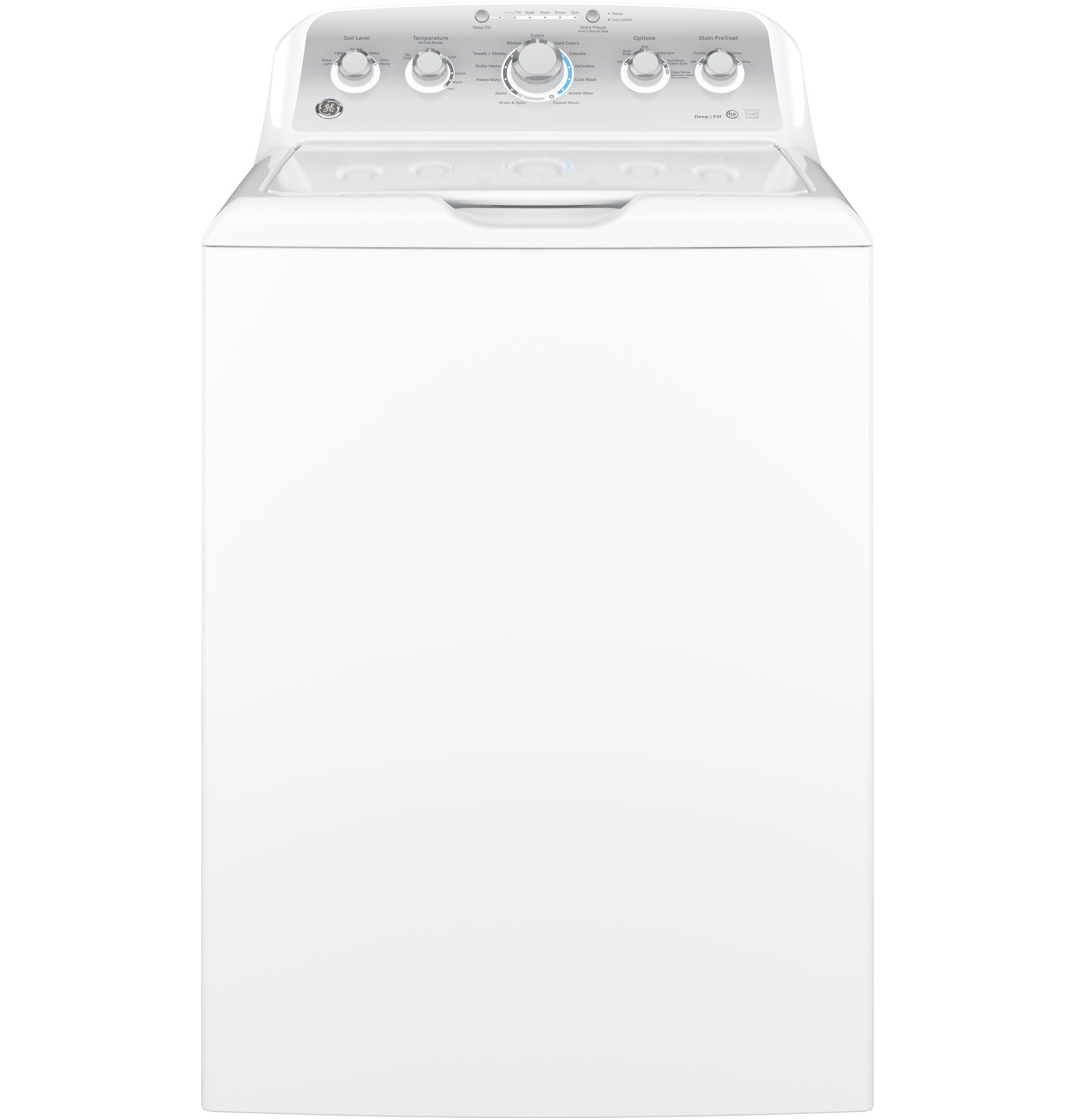 GE(R) 4.2 DOE cu. ft. stainless steel capacity washer