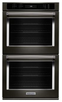 "27"" Double Wall Oven with Even-Heat(TM) True Convection - Black Stainless"