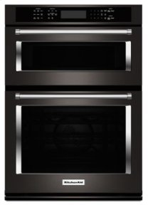 "30"" Combination Wall Oven with Even-Heat(TM) True Convection (Lower Oven) - Black Stainless"
