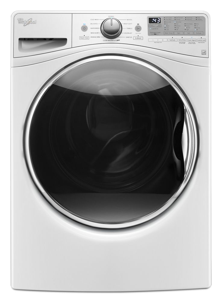 4.5 cu.ft Front Load Washer with Load & Go , 12 cycles  White