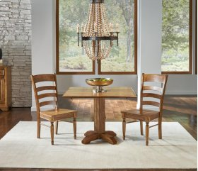 Clearance Item--SQUARE DROP LEAF TABLE with 2 Chairs