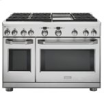 "GE MonogramGE MONOGRAMMonogram(R) 48"" Dual-Fuel Professional Range with 6 Burners and Griddle (Natural Gas)"