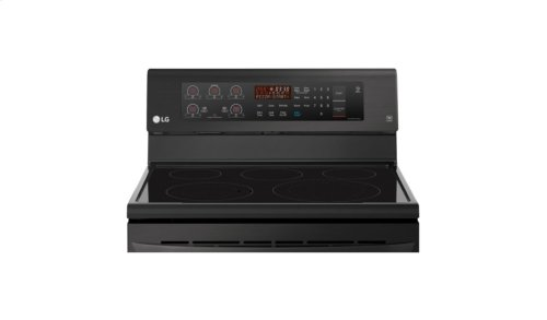 LG Matte Black Stainless Steel 6.3 cu. ft. Capacity Electric Single Oven Range with True Convection and EasyClean®