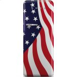 SmegSmeg Approx 24&quot 50'S Style Refrigerator with ice compartment, US Flag, Right hand hinge