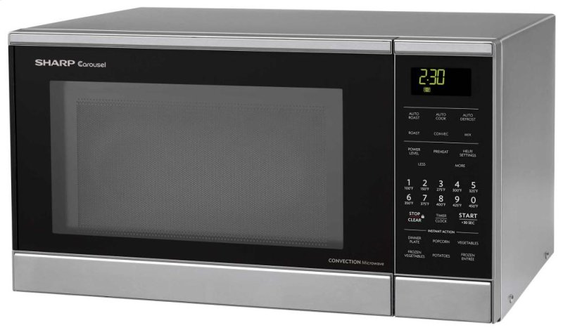 Countertop Microwave Small Footprint : Sharp Carousel Countertop Convection + Microwave Oven 0.9 cu. ft. 900W ...