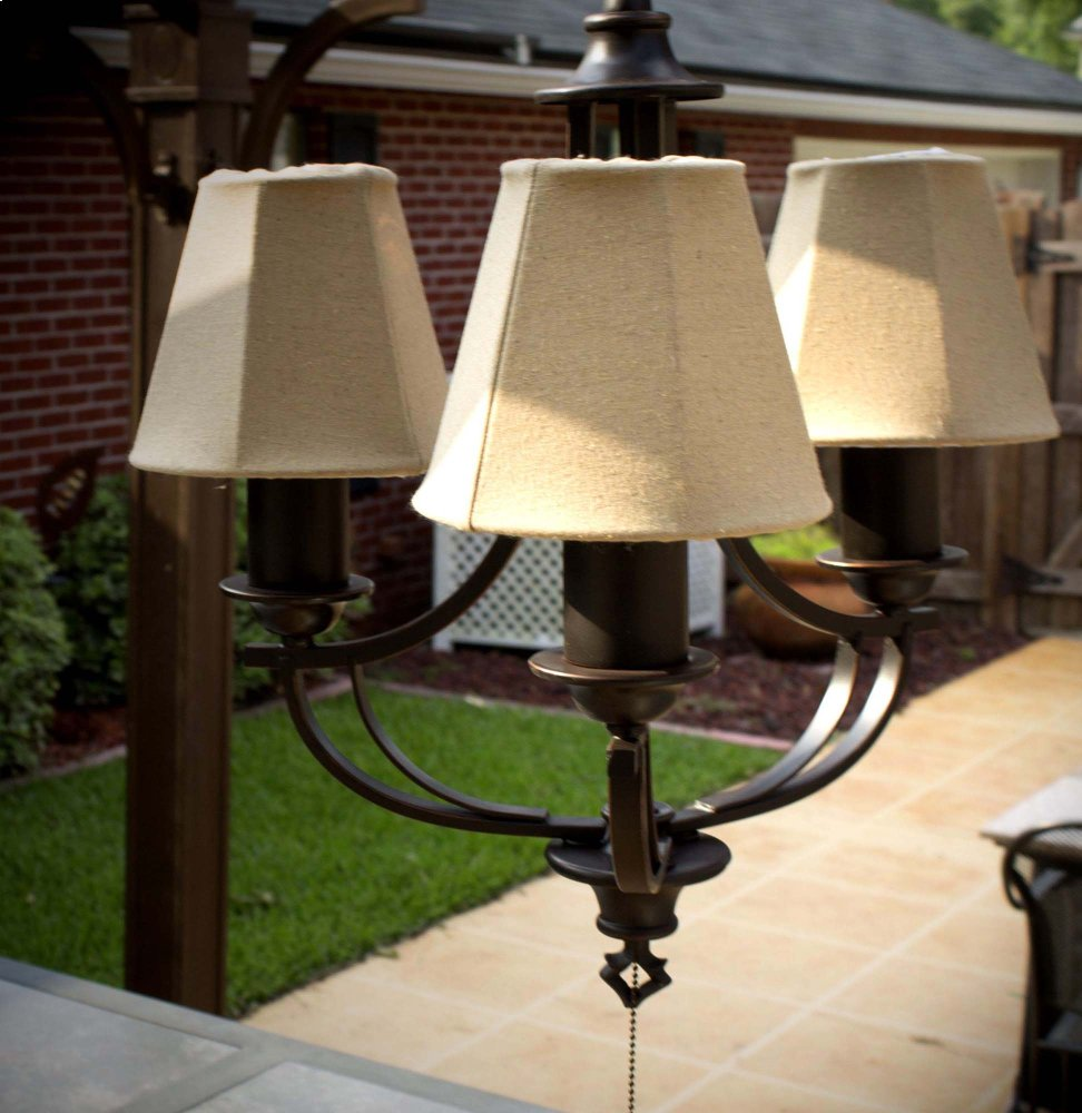 3 Light Outdoor Chandelier