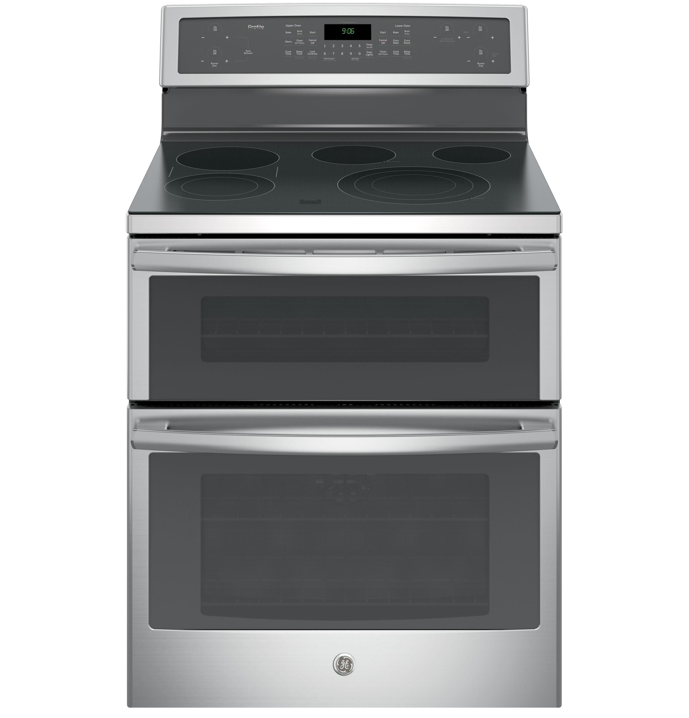 "GE Profile(TM) Series 30"" Free-Standing Electric Double Oven Convection Range