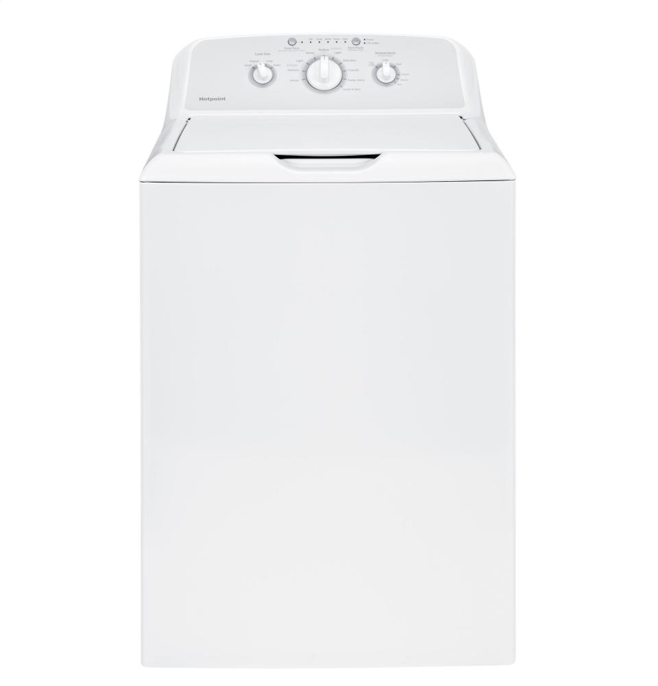 Hotpoint(R) 3.8 DOE cu. ft. capacity stainless steel basket washer