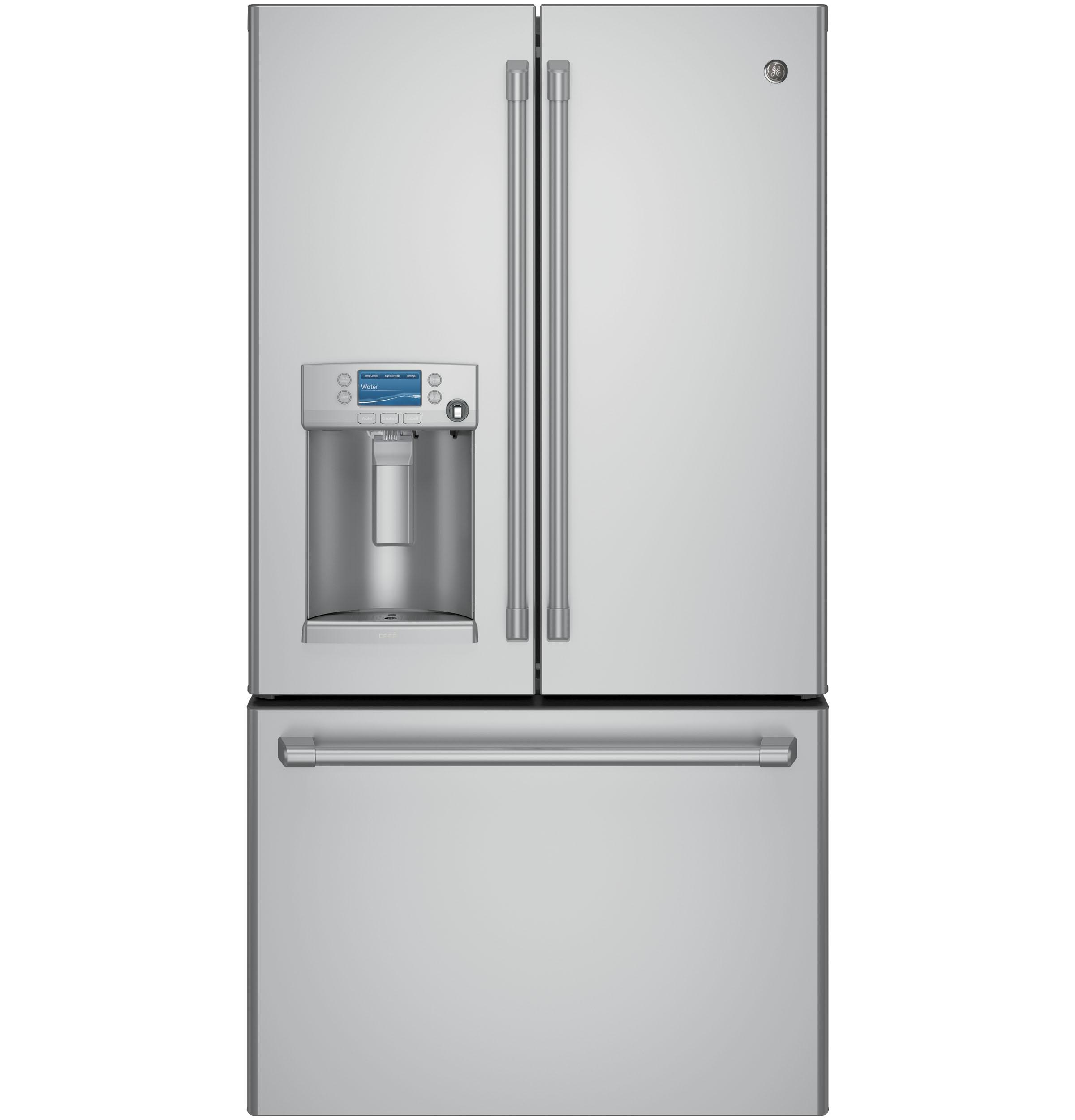 GE Cafe(TM) Series ENERGY STAR(R) 22.2 Cu. Ft. Counter-Depth French-Door Refrigerator with Keurig(R) K-Cup(R) Brewing System  Stainless Steel