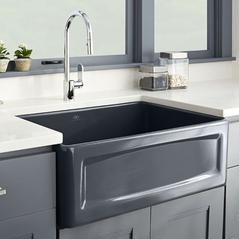 30 Inch Apron Sink : ... in Houston, TX - Hillside 30 Inch Apron Kitchen Sink - Chenille Gray