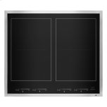 "JENN-AIRLustre Stainless 24"" Induction Flex Cooktop"
