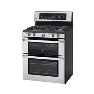 LDG3017ST&nbspLG&nbsp6.1 cu. ft. Capacity Gas Double Oven Range with Infrared Grill and EasyClean
