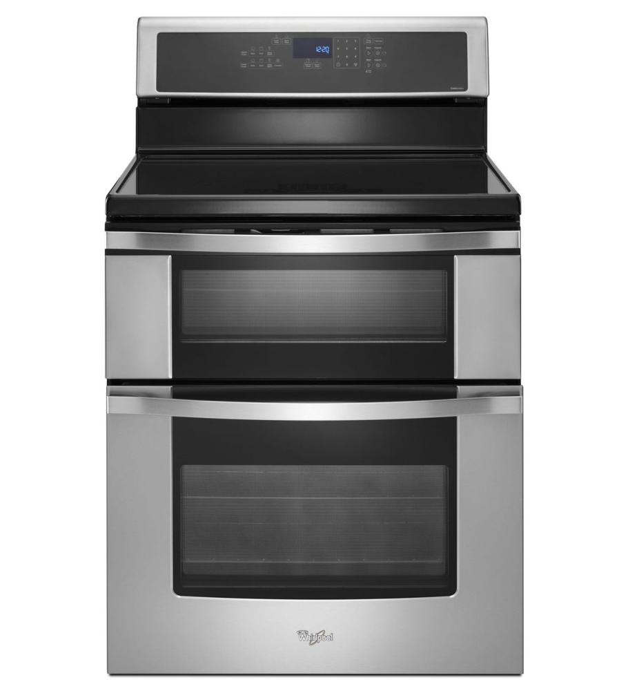 Whirlpool White Ice Double Oven Gas Range