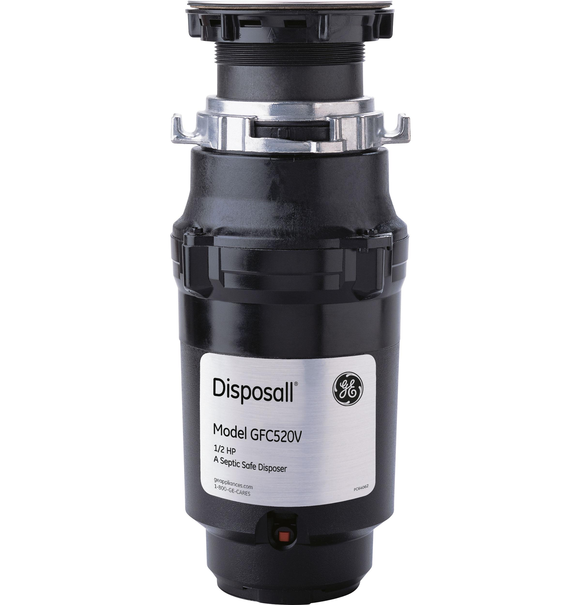 GE(R) 1/2 HP Continuous Feed Garbage Disposer - Non-Corded