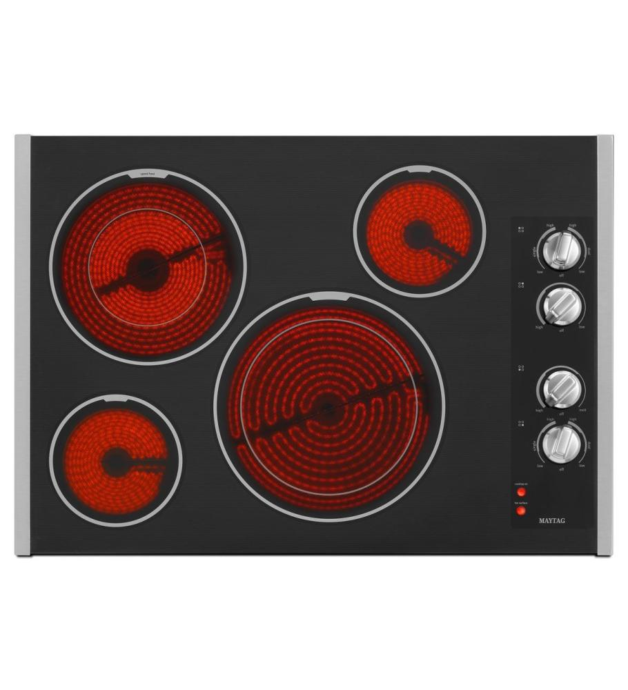Discount Electric Cooktops ~ Mec bb maytag inch electric cooktop with two dual