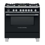 "Fisher Paykel36"" Classic Dual Fuel Range, 5 Burner, Self-cleaning, Black"