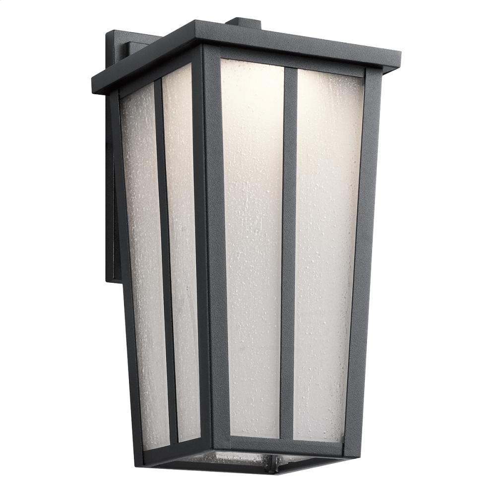 Amber Valley Collection Amber Valley Small LED Wall Lantern in BKT