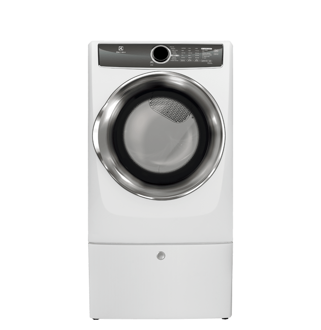 Front Load Perfect Steam(TM) Gas Dryer with Instant Refresh and 9 cycles - 8.0. Cu. Ft.  White