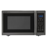 Sharp1.4 cu. ft. 1100W Sharp Black Stainless Steel Countertop Microwave