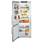 Liebherr30'' Counter Depth Bottom Mount Refrigerator, 15.5 Cu. Ft. Capacity, SuperQuiet, SuperCool, FrostSafe System, SuperFrost, 4 Glass Shelves, 3 Freezer Drawers, Gallon Door Storage, LED Lighting - Stainless Steel Left Hinge