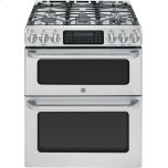 "GE CafeGE CAFEGE Caf(eback)  30"" Slide-In Front Control Gas Double Oven with Convection Range"