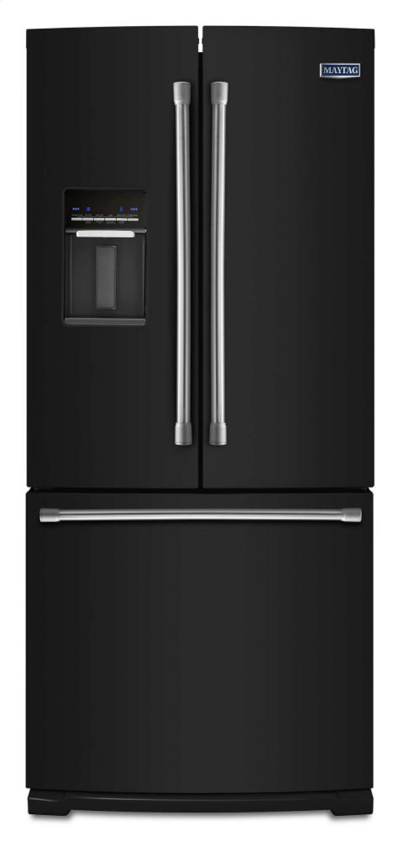 Mfw2055dre In Black By Maytag In Schenectady Ny 30 Inch Wide French Door Refrigerator With
