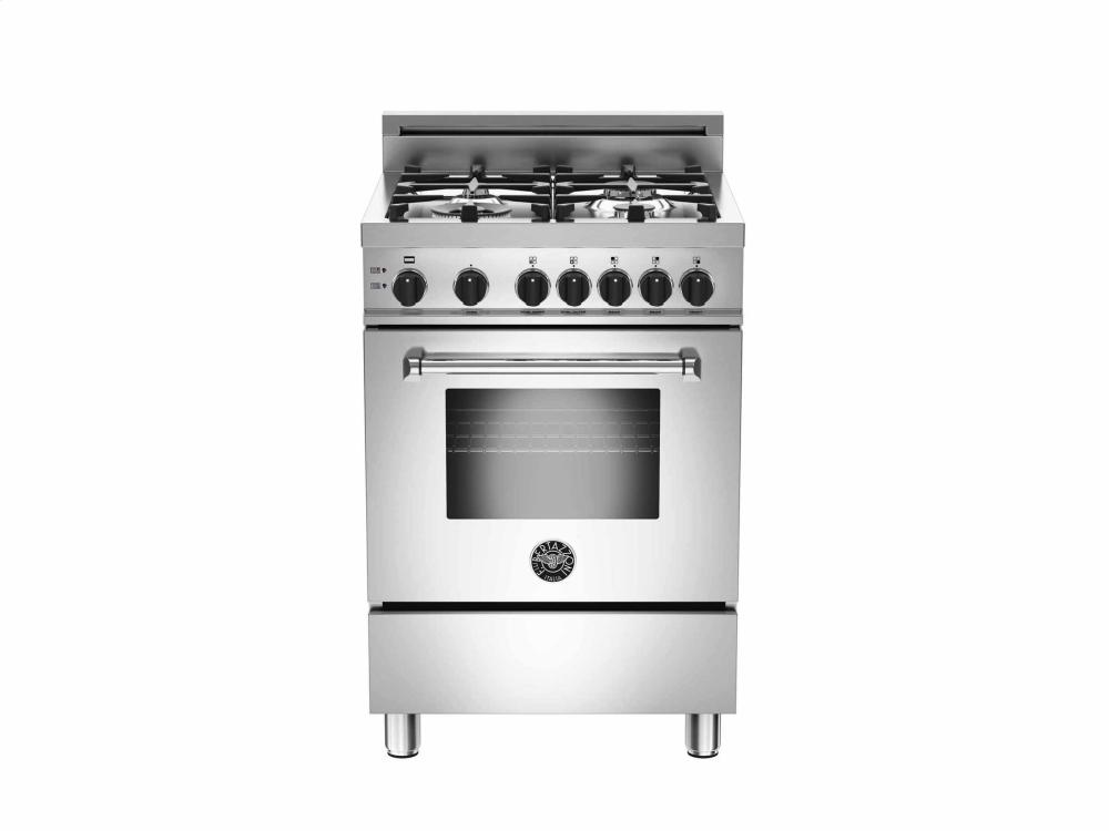24 4-Burner, Gas Oven Stainless  Stainless