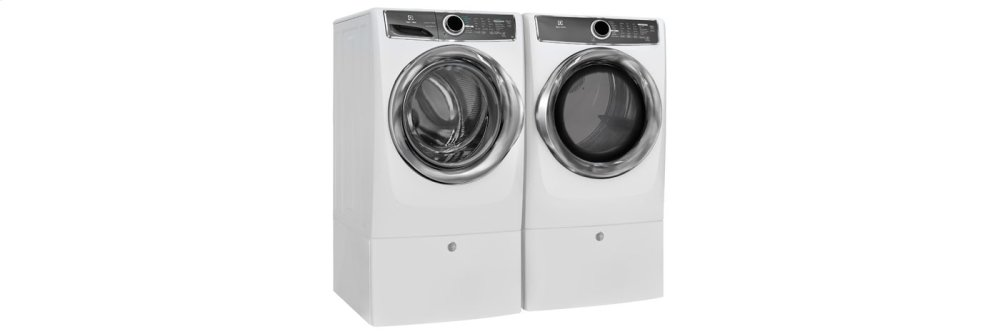 Front Load Perfect Steam(TM) Electric Dryer with Instant Refresh and 9 cycles - 8.0 Cu. Ft.  White