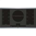 BoschBENCHMARK SERIES36'' Electric Induction Cooktop, SpeedBoost, 5 Cooking Zones, 4,500 Dual Element - Stainless Steel Frame