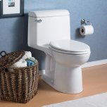 American StandardChampion 4 Elongated Right Height One-Piece Toilet 1.6 GPF with Seat - White
