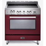 VeronaVerona Burgundy 36&quot Electric Single Oven Range