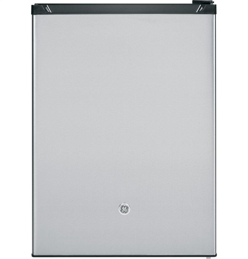 GE(R) Compact Refrigerator  Stainless Steel